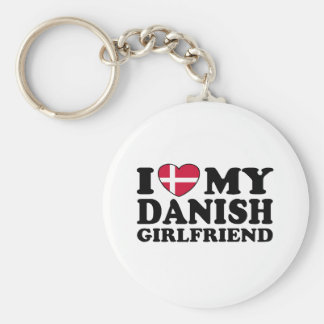 Amo a mi novia danesa llavero personalizado