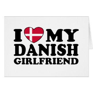 Amo a mi novia danesa tarjetón