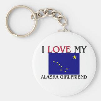 Amo a mi novia de Alaska Llavero Redondo Tipo Pin