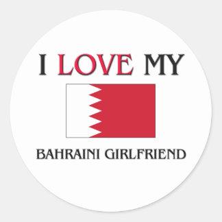 Amo a mi novia de Bahrein Etiqueta Redonda
