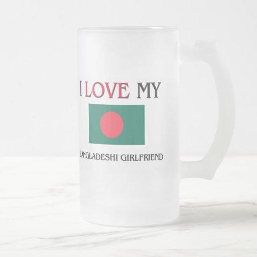 Amo a mi novia de Bangladesh Taza Cristal Mate
