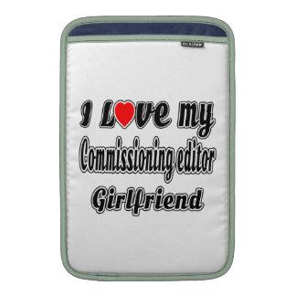 Amo a mi novia de Comisión del redactor Funda Para Macbook Air