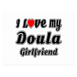 Amo a mi novia de Doula Tarjetas Postales