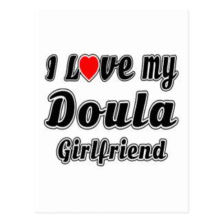 Amo a mi novia de Doula Tarjeta Postal