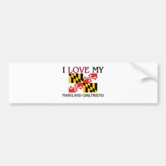 Amo a mi novia de Maryland Pegatina Para Auto