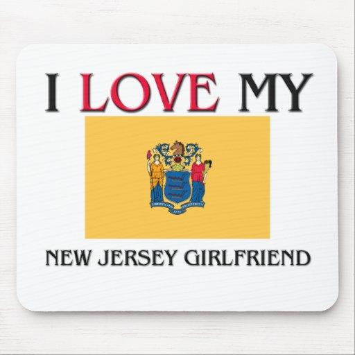 Amo a mi novia de New Jersey Alfombrilla De Raton