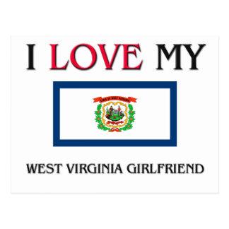 Amo a mi novia de Virginia Occidental Postales