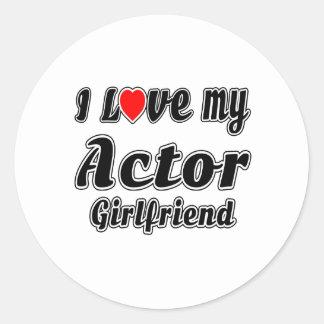 Amo a mi novia del actor etiquetas redondas