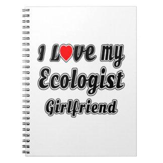 Amo a mi novia del ecologista libretas