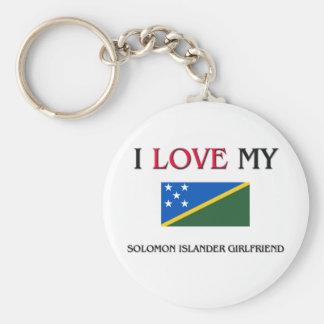 Amo a mi novia del isleño de Solomon Llaveros
