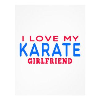 Amo a mi novia del karate membrete