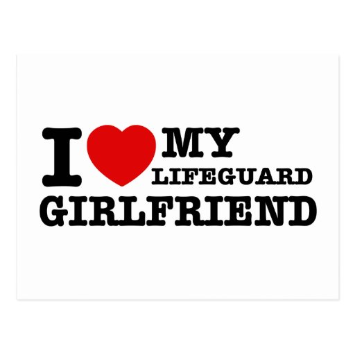 Amo a mi novia del salvavidas postales