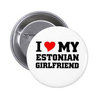 Amo a mi novia estonia pin redondo de 2 pulgadas