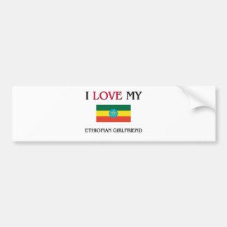 Amo a mi novia etíope pegatina para auto