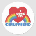 Amo a mi novia etiqueta redonda