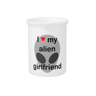 Amo a mi novia extranjera jarra de beber