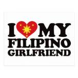 Amo a mi novia filipina postal