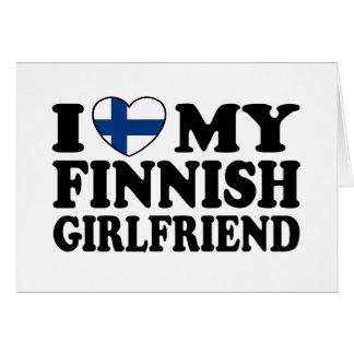 Amo a mi novia finlandesa tarjeta de felicitación