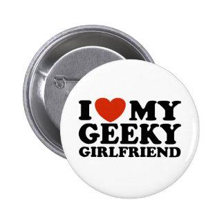 Amo a mi novia Geeky Pin Redondo De 2 Pulgadas