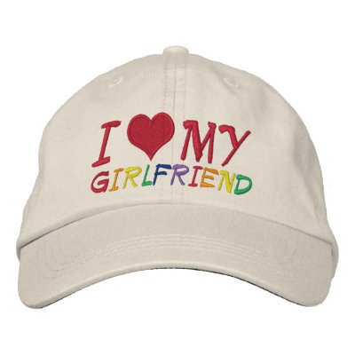 Amo a mi novia gorras bordadas