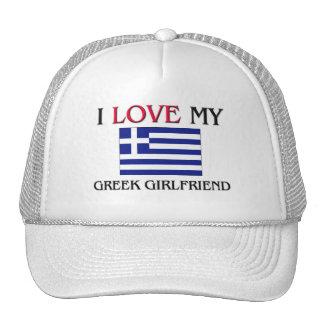 Amo a mi novia griega gorro de camionero