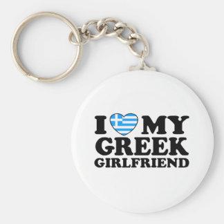 Amo a mi novia griega llaveros