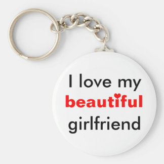 Amo a mi novia hermosa llavero redondo tipo pin