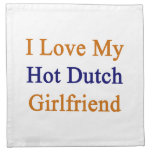Amo a mi novia holandesa caliente servilletas de papel