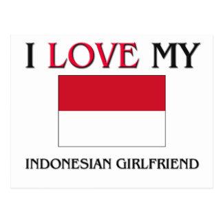 Amo a mi novia indonesia postales