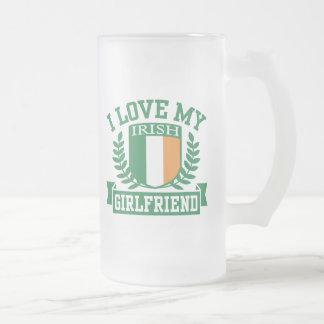 Amo a mi novia irlandesa taza de café