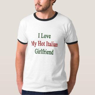 Amo a mi novia italiana caliente playera