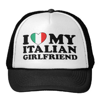 Amo a mi novia italiana gorras de camionero