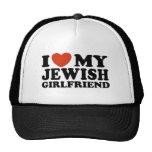 Amo a mi novia judía gorro de camionero