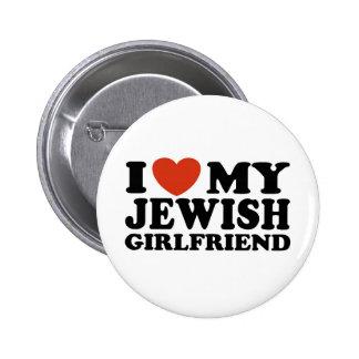 Amo a mi novia judía pin redondo 5 cm