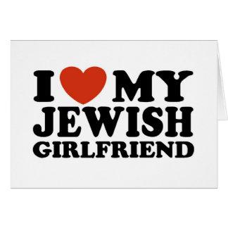Amo a mi novia judía tarjeta de felicitación