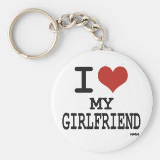 Amo a mi novia llavero personalizado