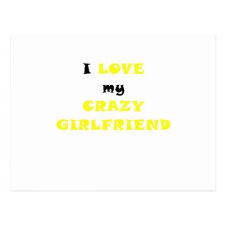Amo a mi novia loca postales