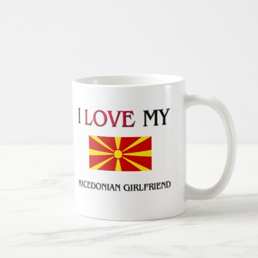 Amo a mi novia macedónica tazas de café