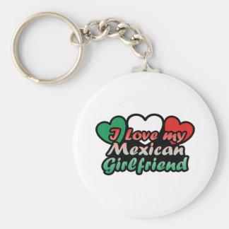 Amo a mi novia mexicana llavero redondo tipo pin