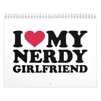 Amo a mi novia nerdy calendarios de pared