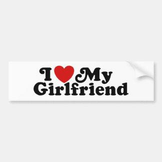 Amo a mi novia pegatina para auto