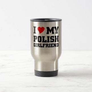 Amo a mi novia polaca taza térmica