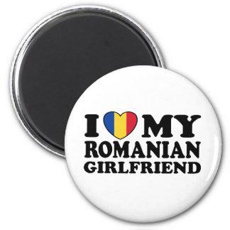 Amo a mi novia rumana imán redondo 5 cm