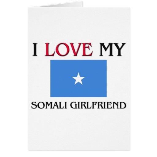 Amo a mi novia somalí tarjeta de felicitación