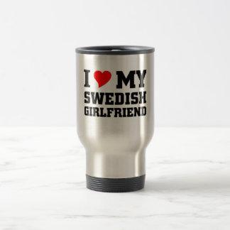 Amo a mi novia sueca taza de viaje