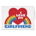 Amo a mi novia tarjeta