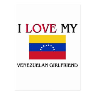 Amo a mi novia venezolana tarjeta postal