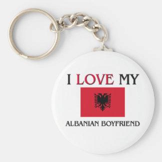 Amo a mi novio albanés llavero personalizado