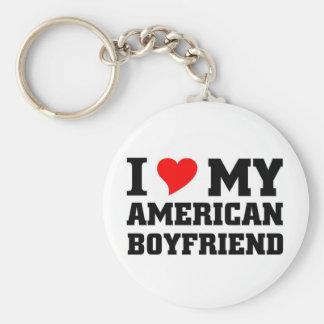 Amo a mi novio americano llaveros