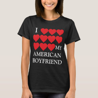 Amo a mi novio americano playera